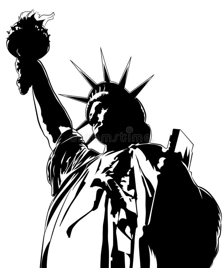 Staty av frihet, vektorbild vektor illustrationer