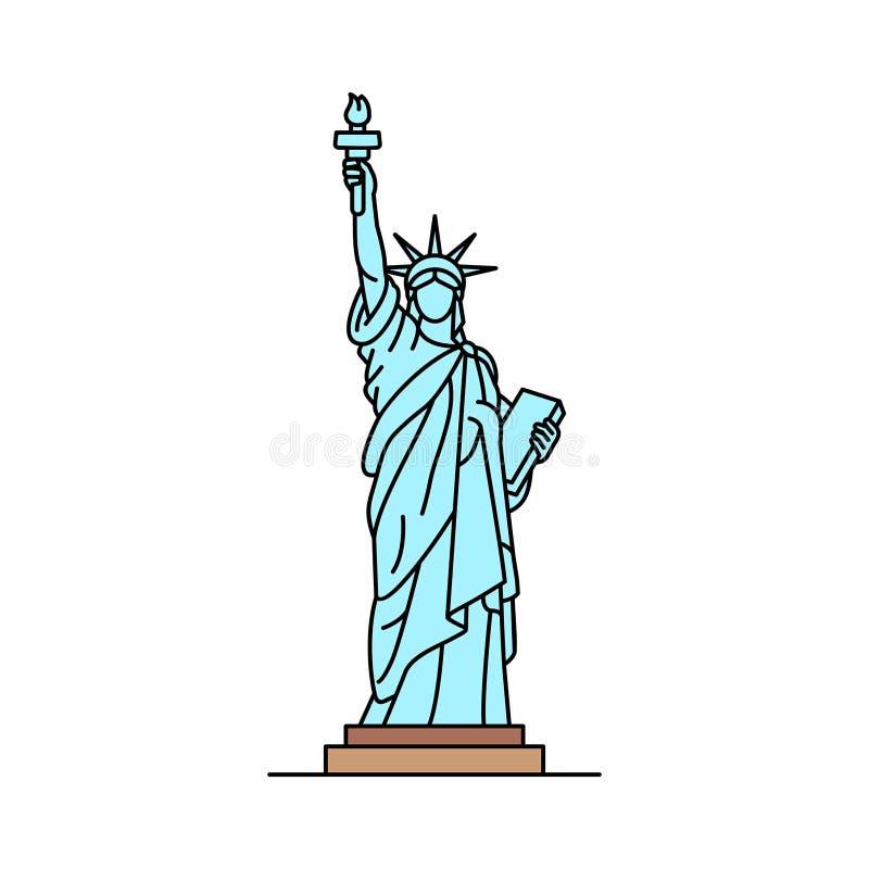 Staty av frihetsymbolen vektor illustrationer