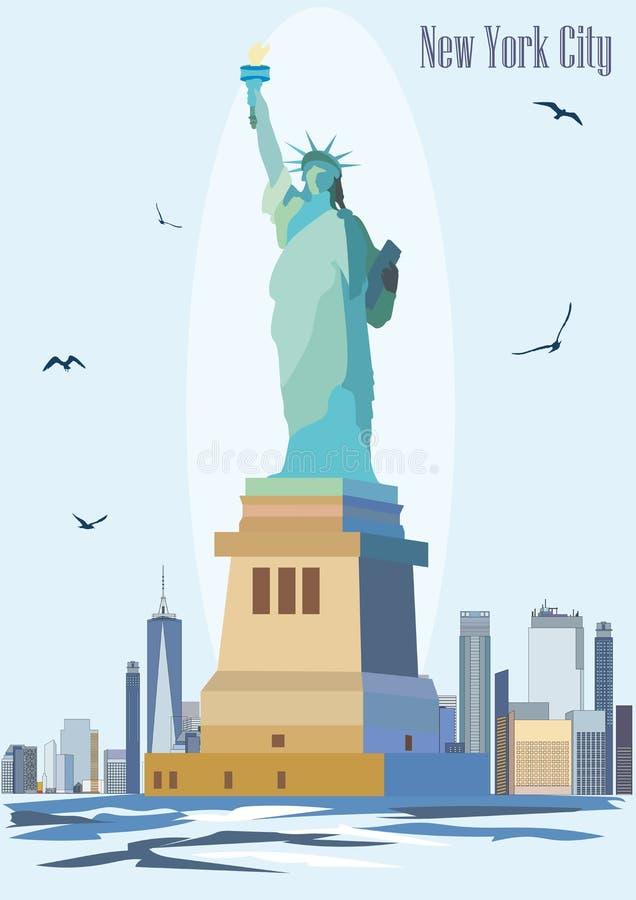 Staty av frihetvektorbilden stock illustrationer