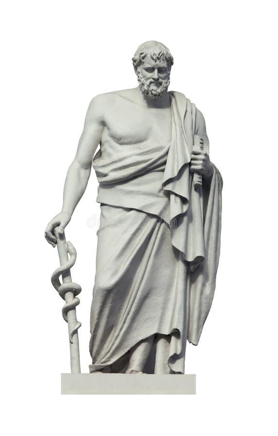 Staty av gammalgrekiskan phisician Hippocrates royaltyfri foto