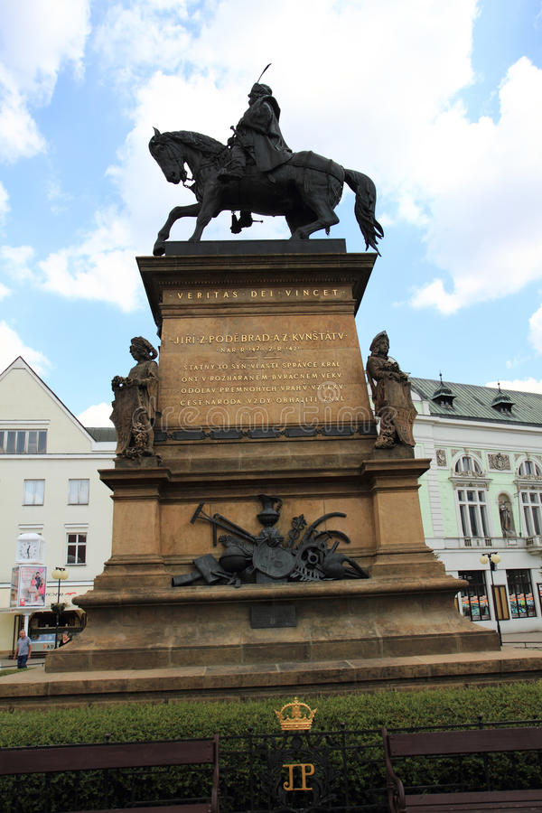 Staty av George av Podiebrad arkivfoto