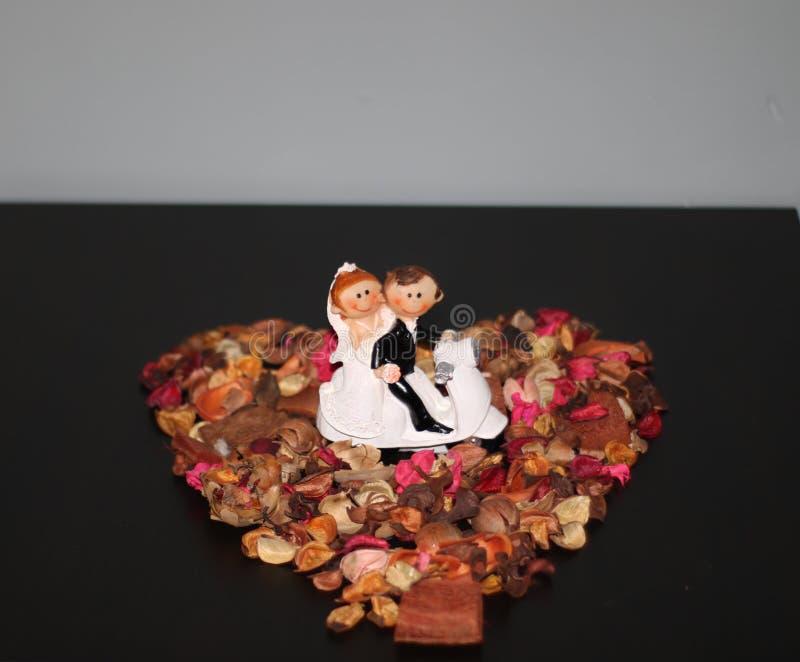 Staty av gifta paret arkivfoton