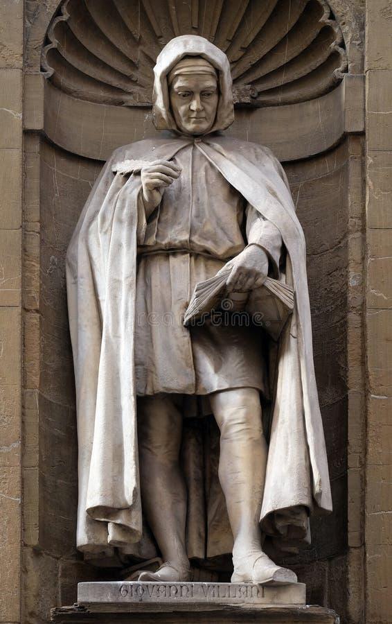 Staty av Giovanni Villani, den italienska bankiren, representanten, diplomaten och krönikören, Loggia del Mercato i Florence fotografering för bildbyråer