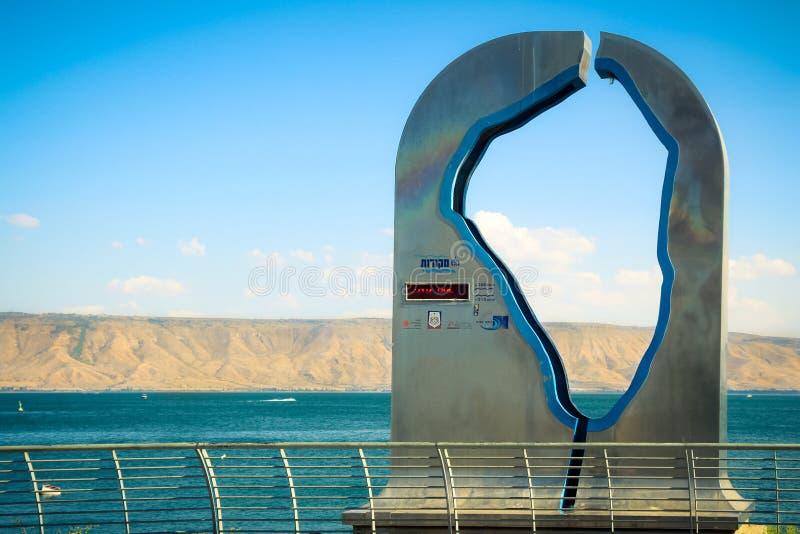 Staty av havet av Galilee arkivfoton