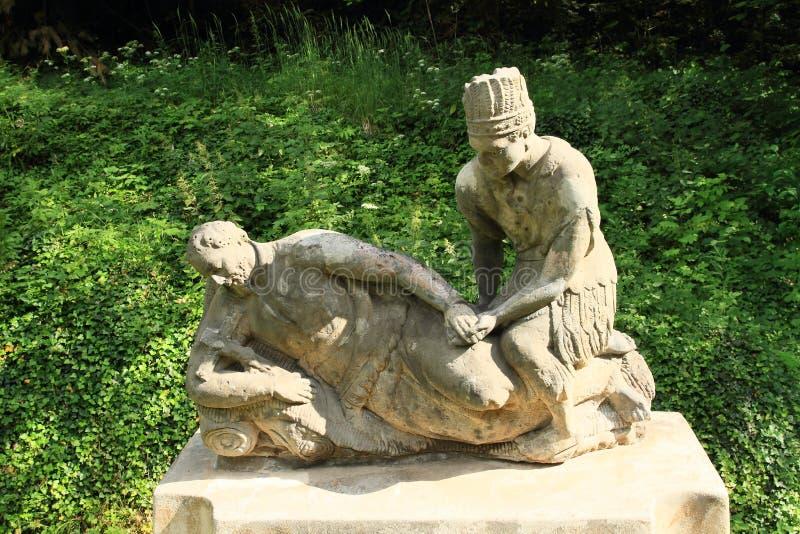 Staty av helgonet Francis Xaver arkivfoton