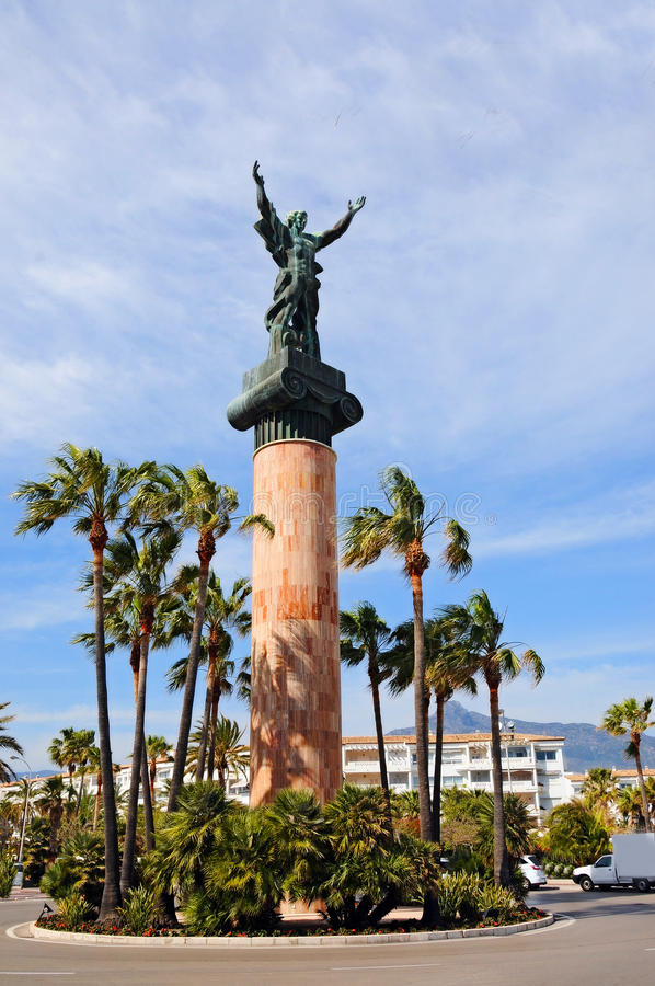 Staty av Jose Banus royaltyfri fotografi