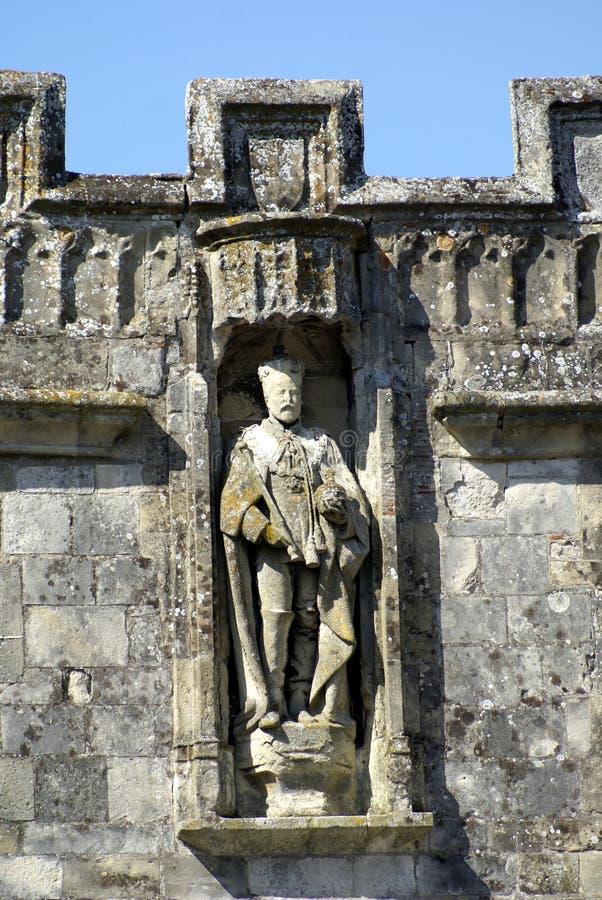 Staty av konungen Edward VII i Salisbury, Wiltshire, England royaltyfria bilder