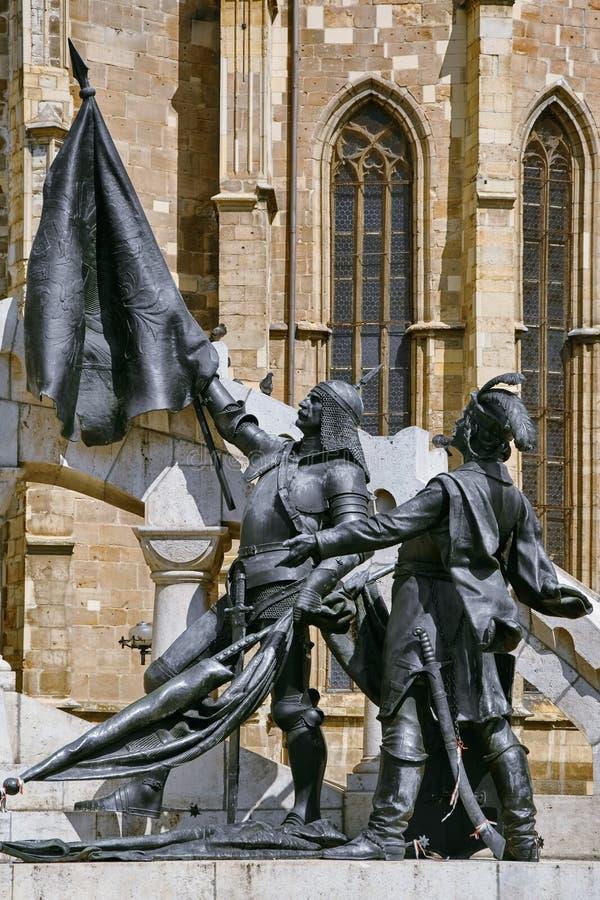 Staty av krigare av konungen Matthias arkivbild