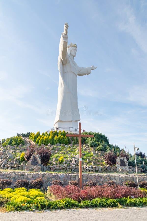 Staty av Kristus konungen och korset av världsungdomdagen royaltyfri foto