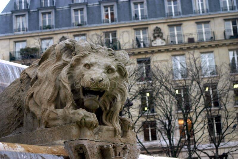 Staty av lejonet royaltyfria foton
