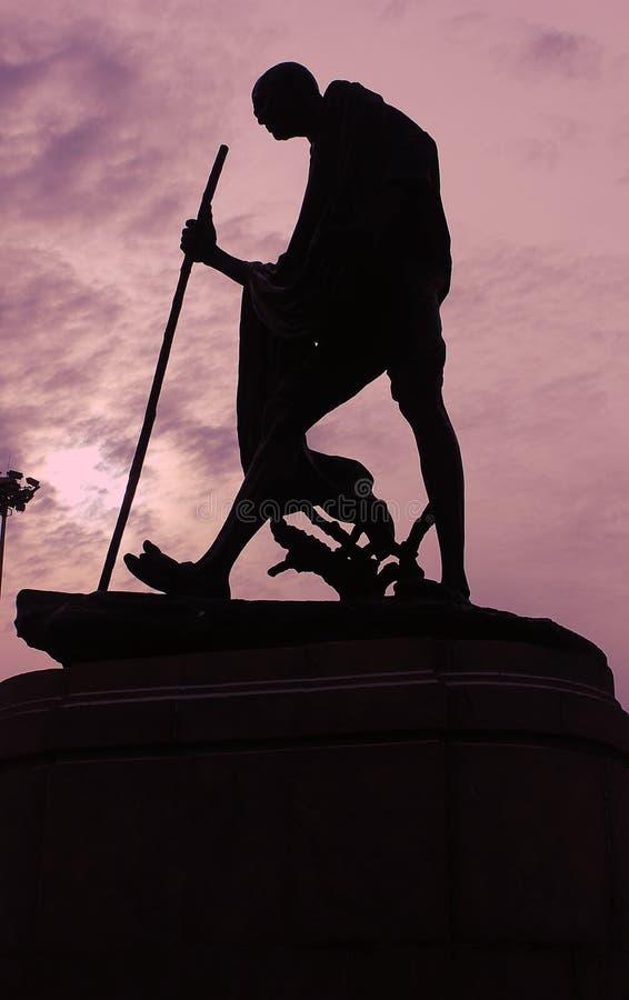 Staty av Mahatma Gandhi royaltyfria foton