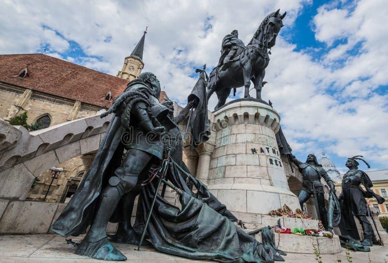 Staty av Matthias Corvinus royaltyfri bild