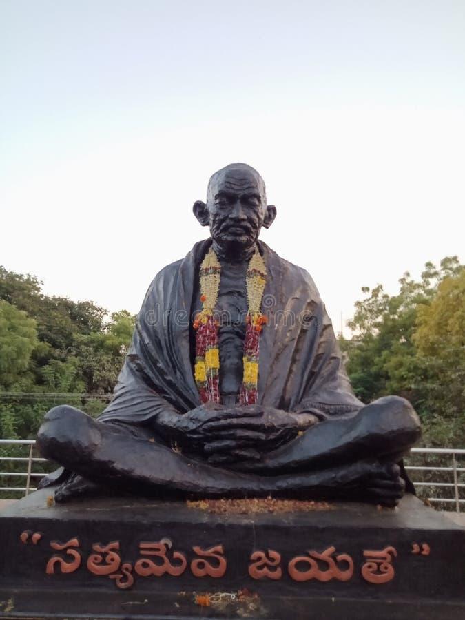 Staty av nationfadern av Indien, Mahatma Gandhi arkivfoton