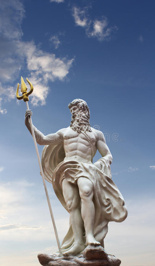 Staty av Poseidon royaltyfria foton