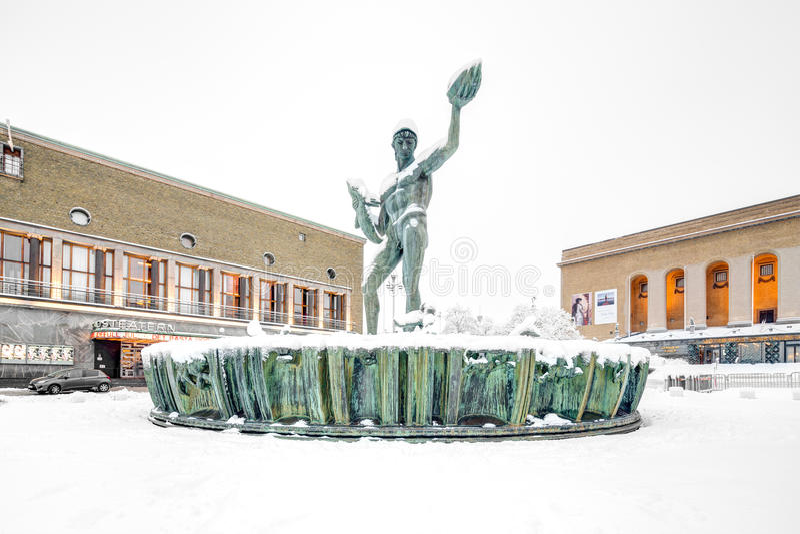Staty av Poseidon royaltyfria bilder
