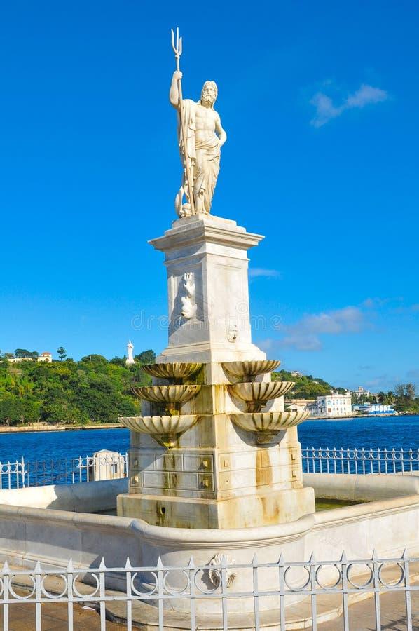 Staty av Poseidon royaltyfri fotografi