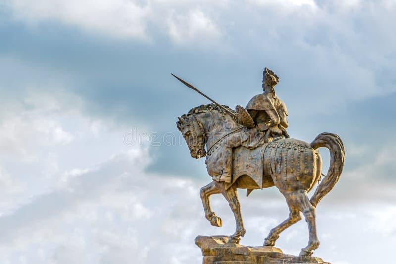 Staty av Ras Makonnen på en häst arkivfoton