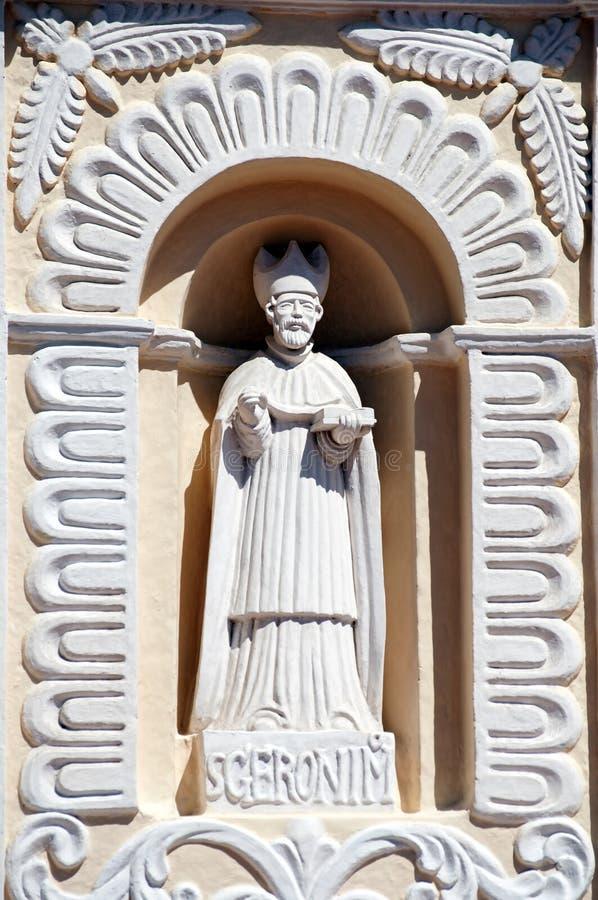 Staty av San Geronimo, St Jerome, Comayagua, Honduras. royaltyfri bild
