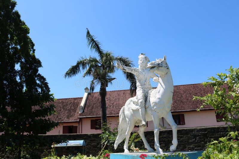 Staty av Sultan Hasanuddin fotografering för bildbyråer
