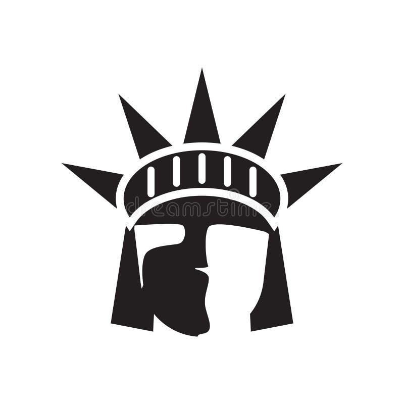 Staty av tecknet och symbolet för frihetsymbolsvektor som isoleras på vit stock illustrationer