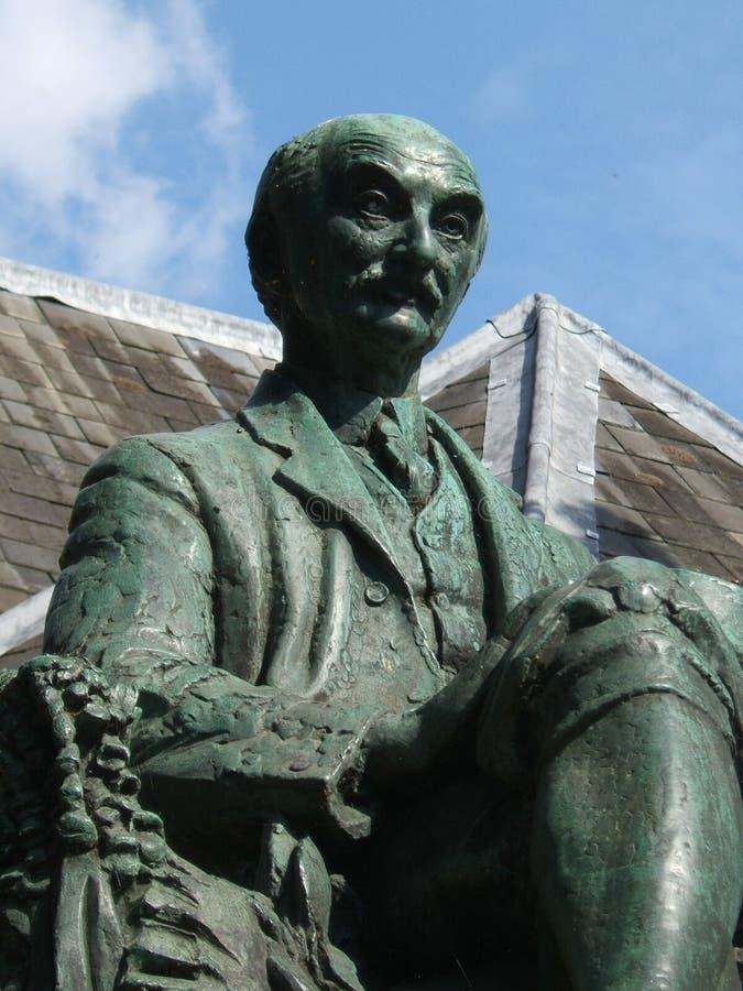 Staty av Thomas Hardy i Dorchester arkivfoton
