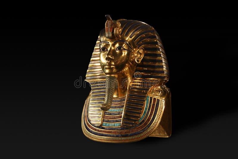 Staty av Tutenchamun, konungfarao i forntida Egypten arkivbilder
