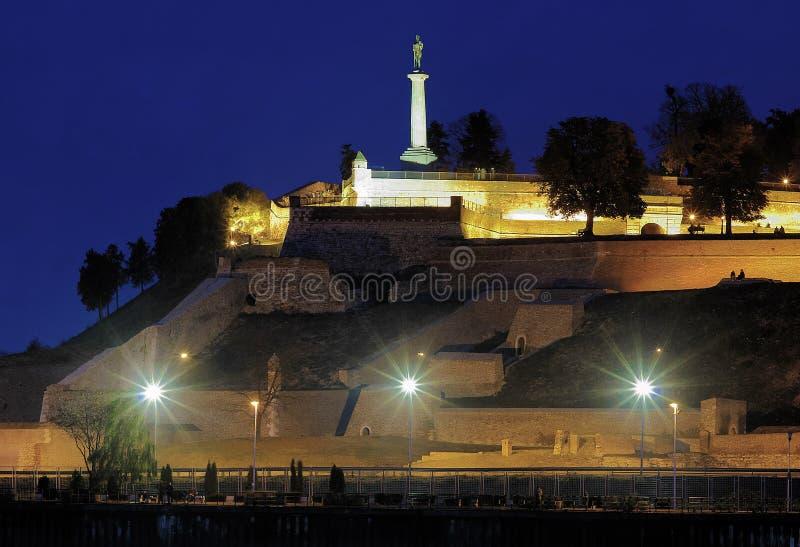 Staty av victoren i den Kalemegdan fästningen, Belgrade royaltyfria bilder