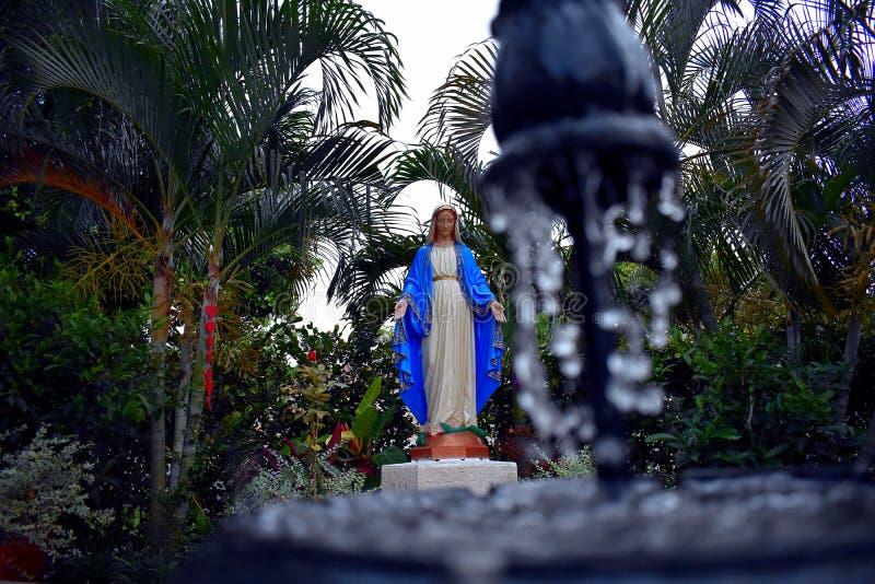 Staty av Virgenen Mary på helgonet Malachy Church fotografering för bildbyråer