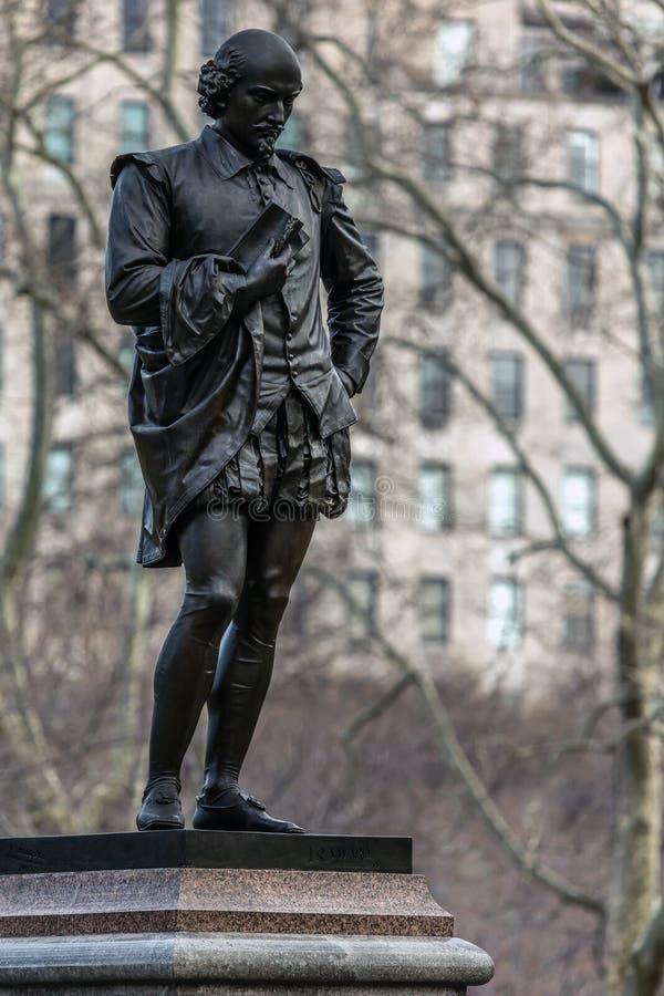 Staty av William Shakespeare royaltyfri fotografi