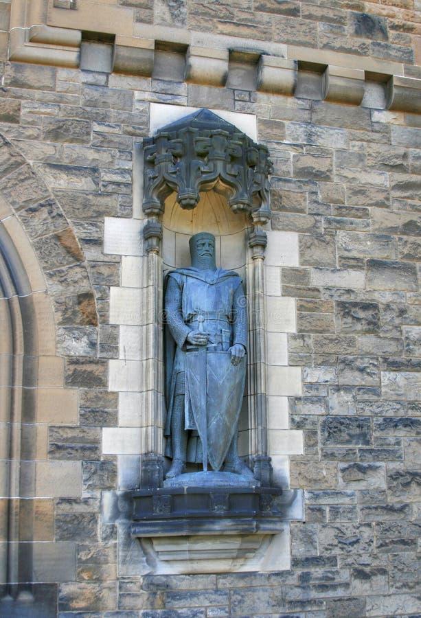 Staty av William Wallace, Edinburgslott fotografering för bildbyråer