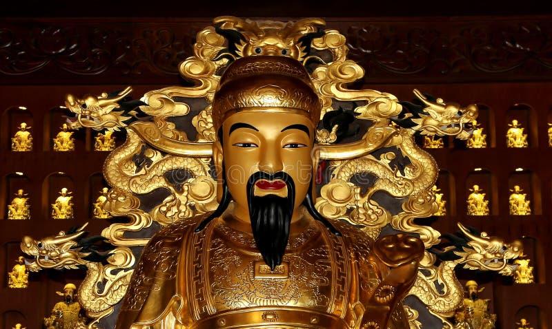 Staty av Xuanzang Stor lös gåspagod, Xian (Sian, Xi'an), Kina royaltyfri bild