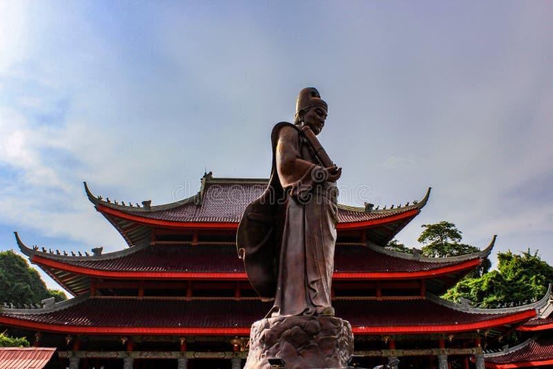Staty för amiral Zheng He i centrala Java, Indonesien arkivbilder