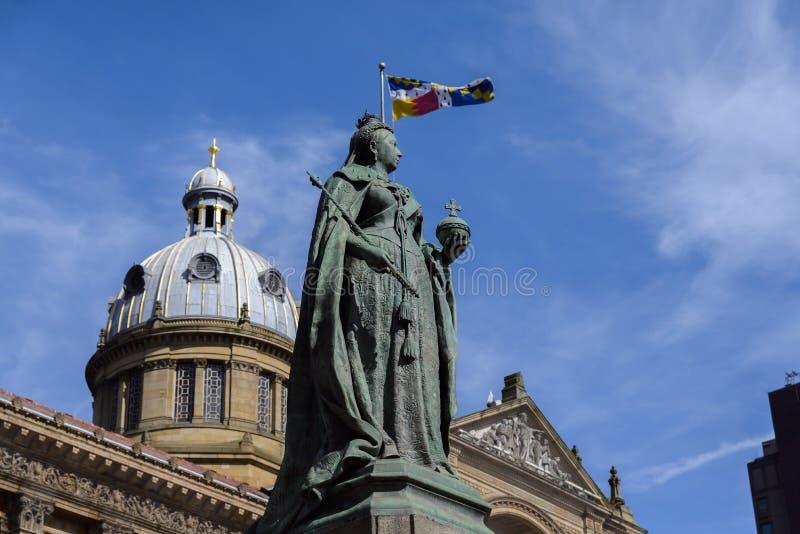 Staty för drottning Victoria, Birmingham royaltyfri fotografi