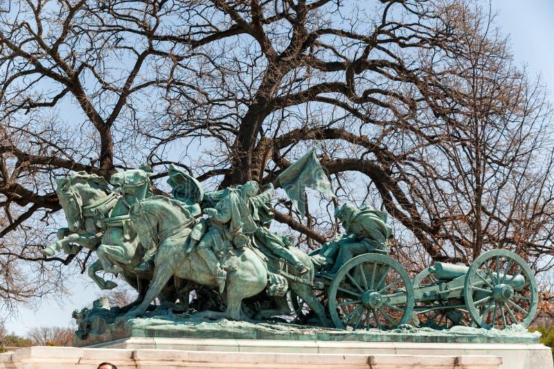 Staty för inbördeskrigminnesmärke i Washington DC royaltyfri fotografi