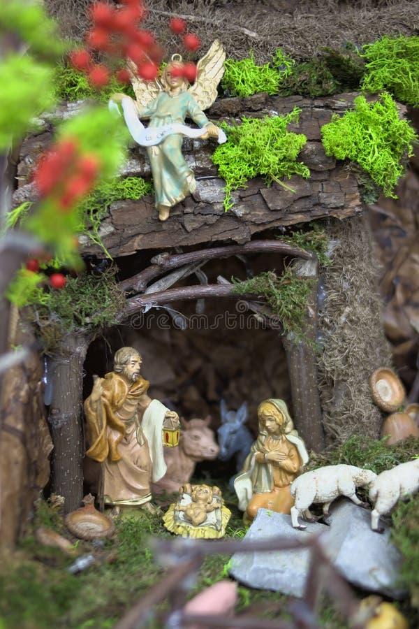 Staty för juljulkrubbareligion arkivfoto