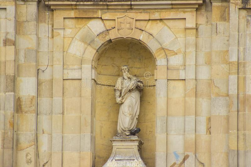 Staty för landskapcentrumbogota Colombia simon marmol royaltyfri bild