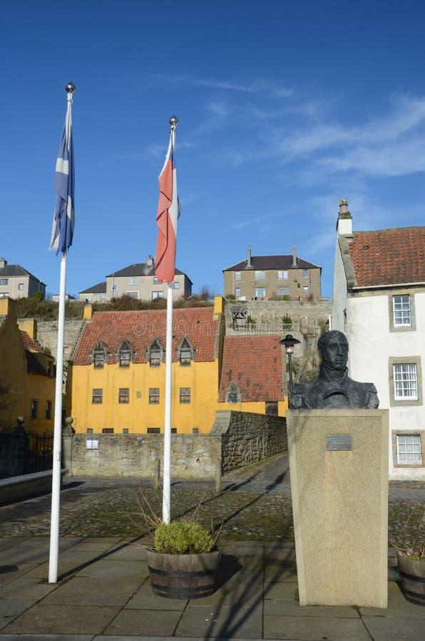 Staty, flaggor och slott royaltyfri bild