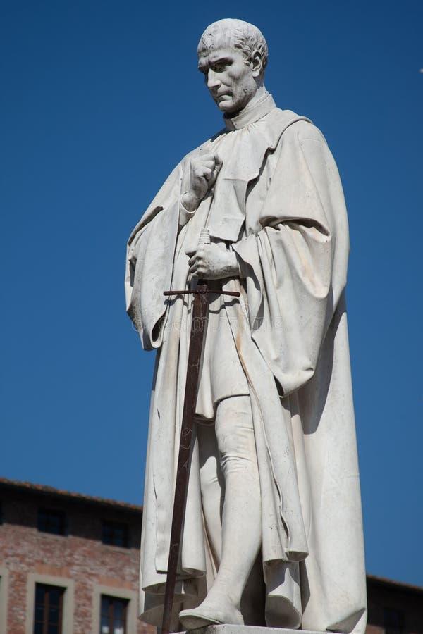 Staty Francesco Burlamacchi arkivbild