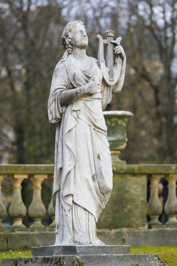Staty i Jardinen de Luxembourg, Paris, Frankrike royaltyfri bild