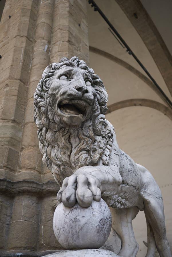 Staty i loggiadeien Lanzi royaltyfri foto