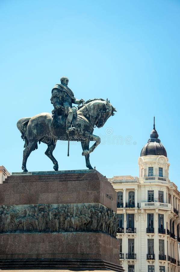 Staty i Montevideo, Uruguay arkivbild