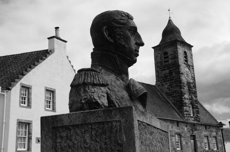 Staty och radhus royaltyfria foton