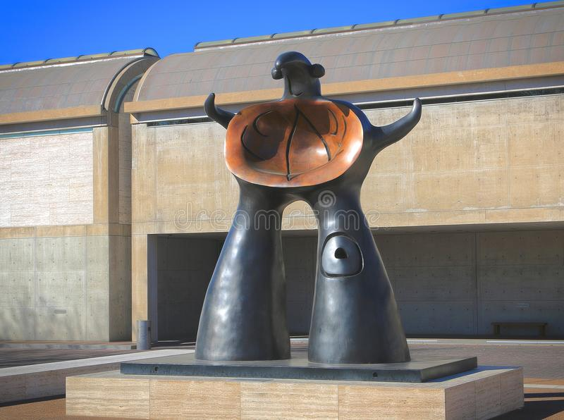 Staty på Kimball Art Museum Fort Worth, Texas royaltyfria foton