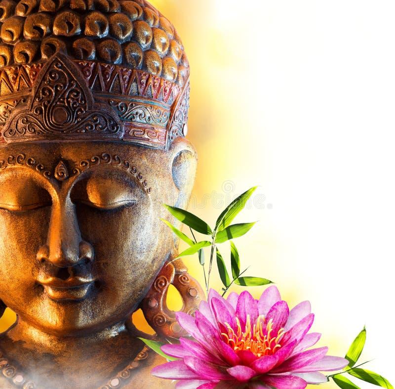 Statybuddha zen arkivbilder