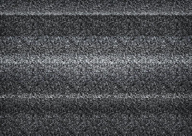 Statyczny tv hałas, zły tv sygnał, czarny i biały, monochrom royalty ilustracja