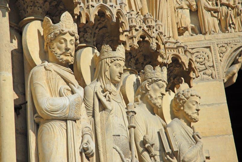 statyer för damenotresaints royaltyfria foton