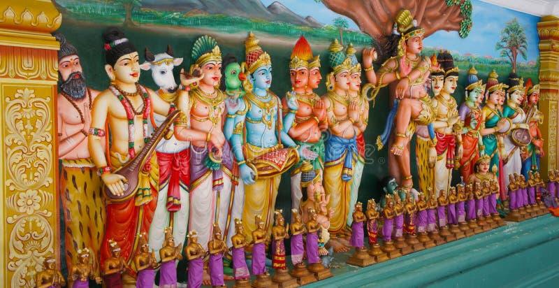 Statyer för hinduisk tempel arkivbild