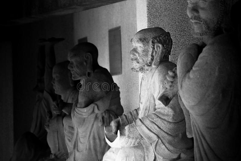 Statyer för kinesiskt folk royaltyfri bild