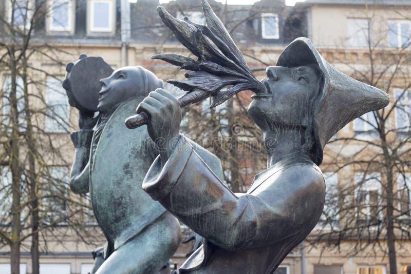 Statyer i Luxembourg arkivbilder