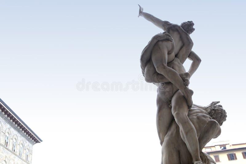 Statyer i piazzadellasignoriaen, Florence, Italien arkivfoton